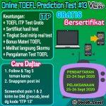 Test TOEFL Online 13 GRATISSS by Vocab Level